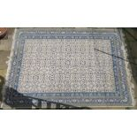TWO TUNISIAN RUGS, 355cm x 252cm and 300cm x 200cm (2) Condition Report: Available upon request