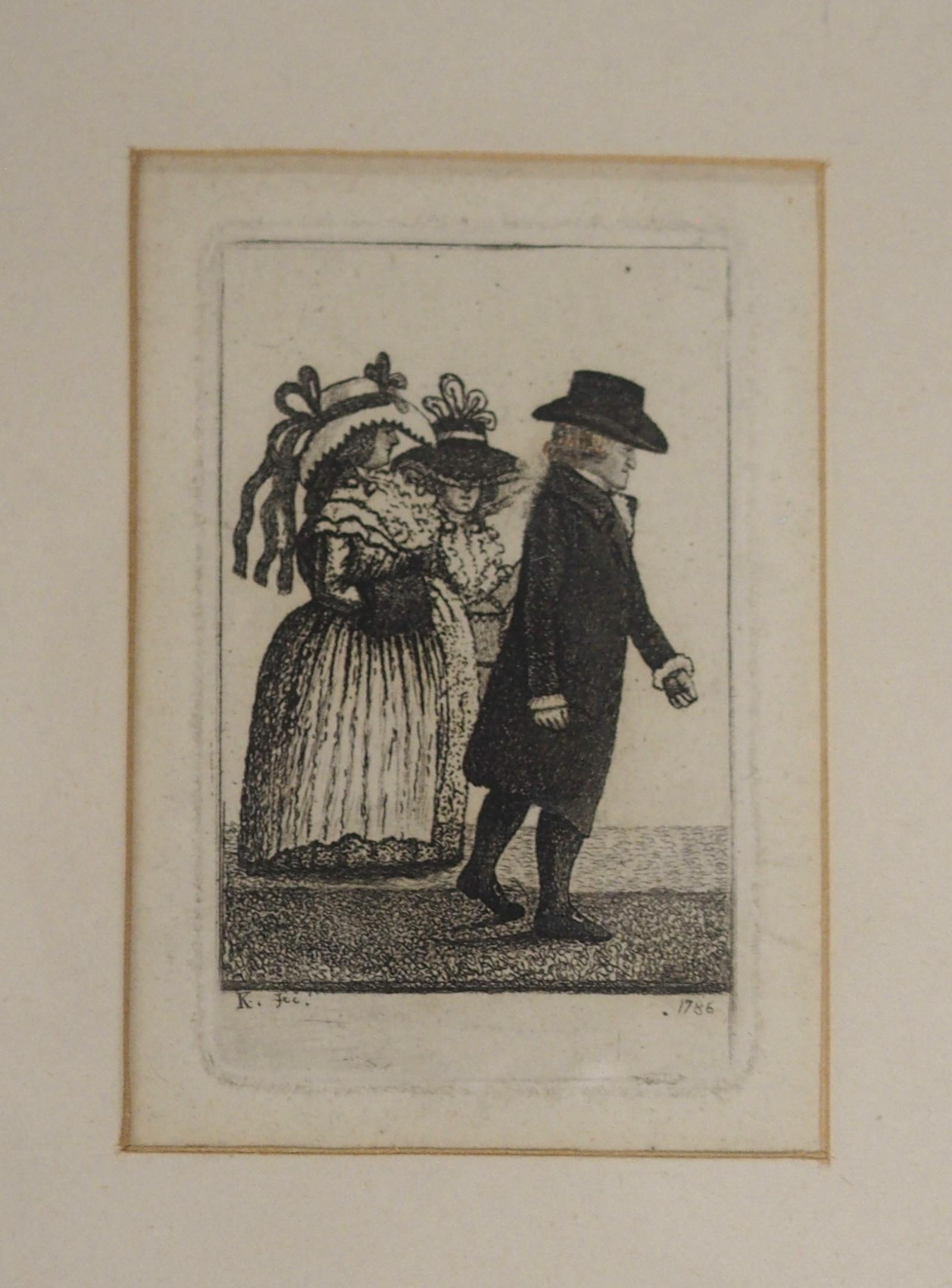 AFTER JOHN DUNCAN THE HEADLESS HORSEMAN engraving, 12 x 8cm, Admiral Viscount Duncan print, three - Image 2 of 12