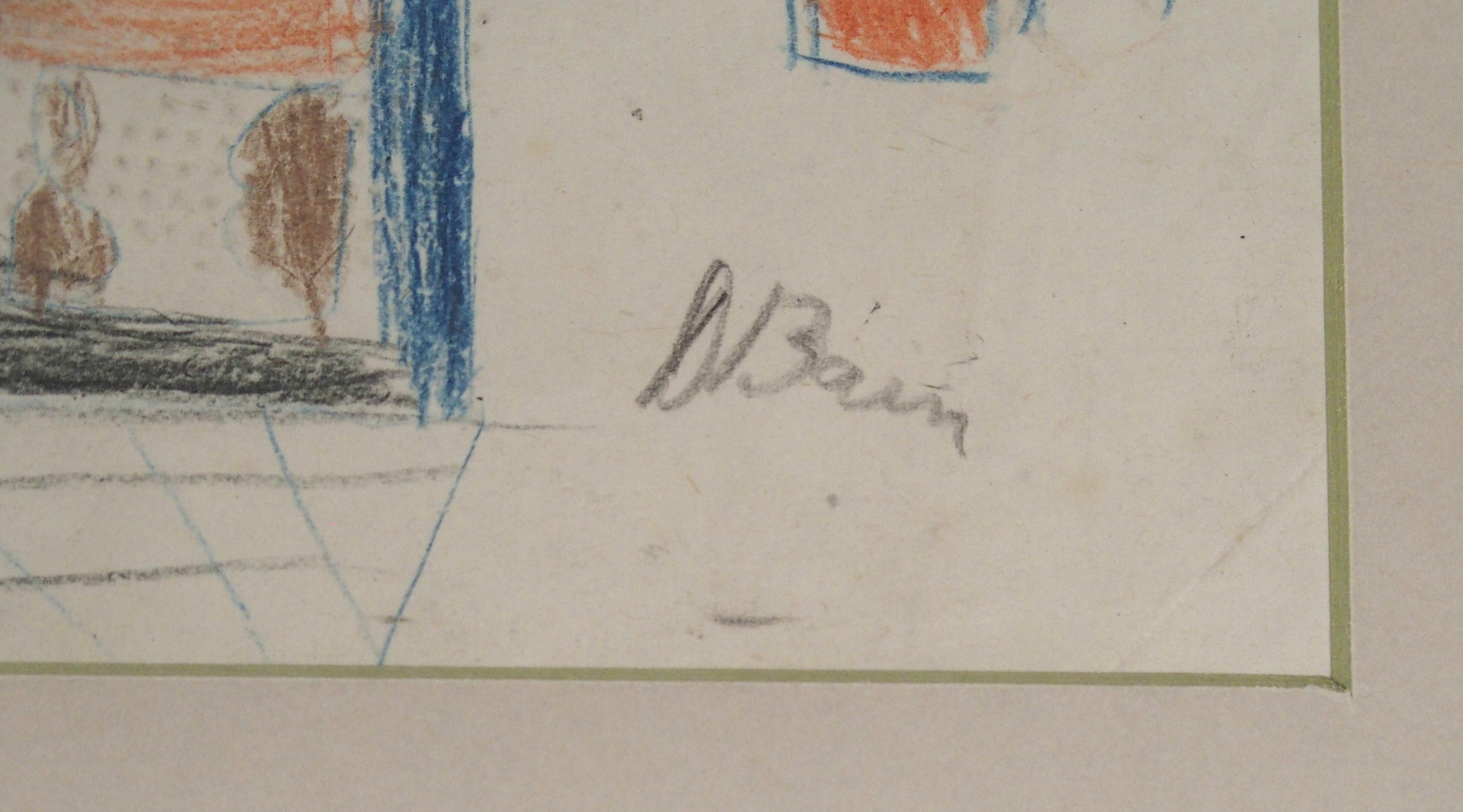 •DONALD BAIN (SCOTTISH 1904-1979) UNTITLED SKETCH crayon, signed, 25 x 29cm Condition Report: - Image 3 of 3