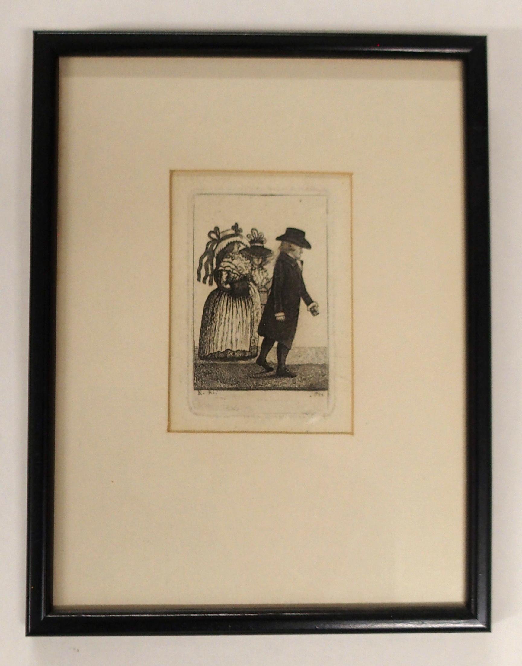 AFTER JOHN DUNCAN THE HEADLESS HORSEMAN engraving, 12 x 8cm, Admiral Viscount Duncan print, three - Image 5 of 12