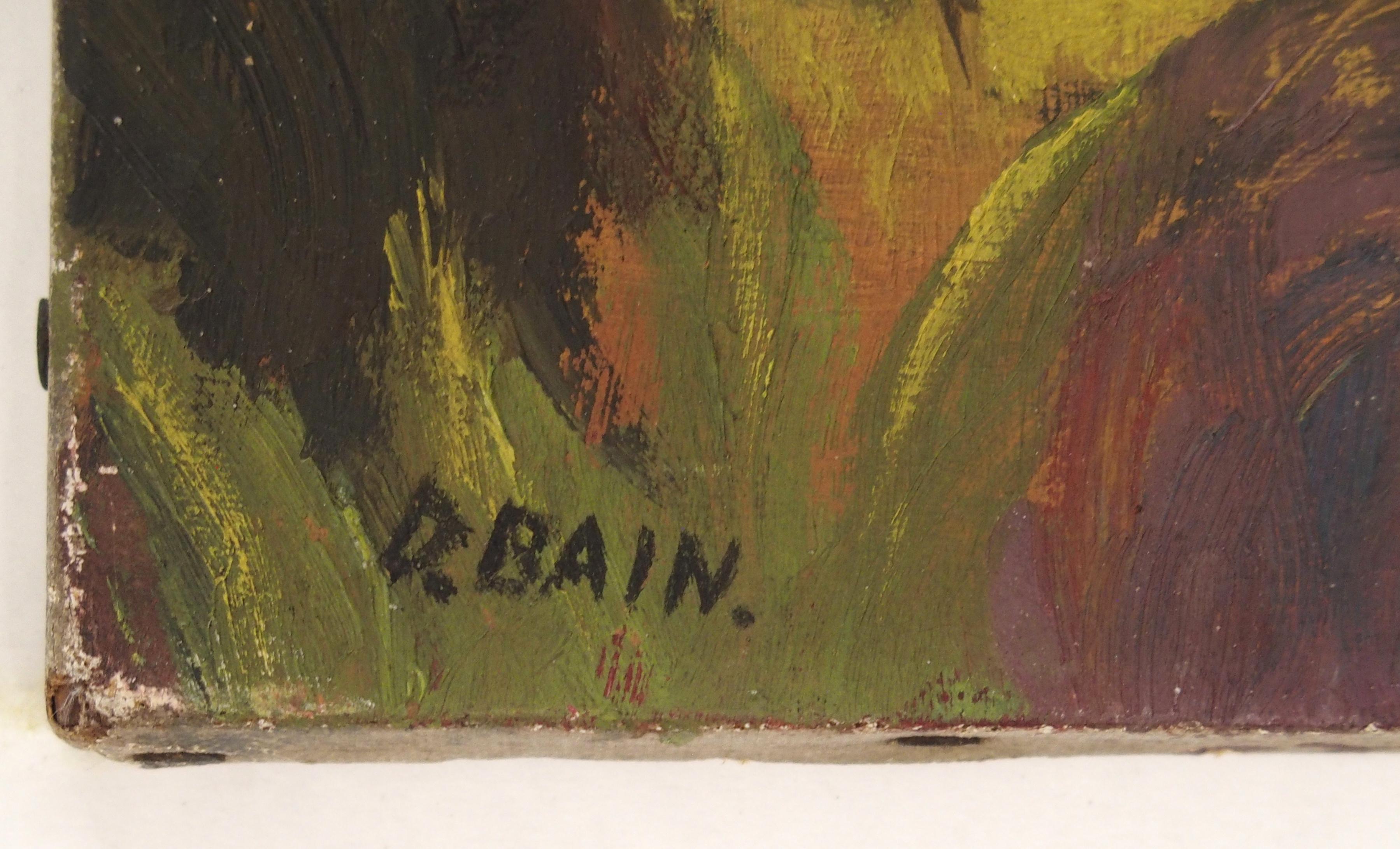 •DONALD BAIN (SCOTTISH 1904-1979) CHILD PORTRAIT oil on canvas, signed, 26 x 18cm Condition - Image 2 of 3