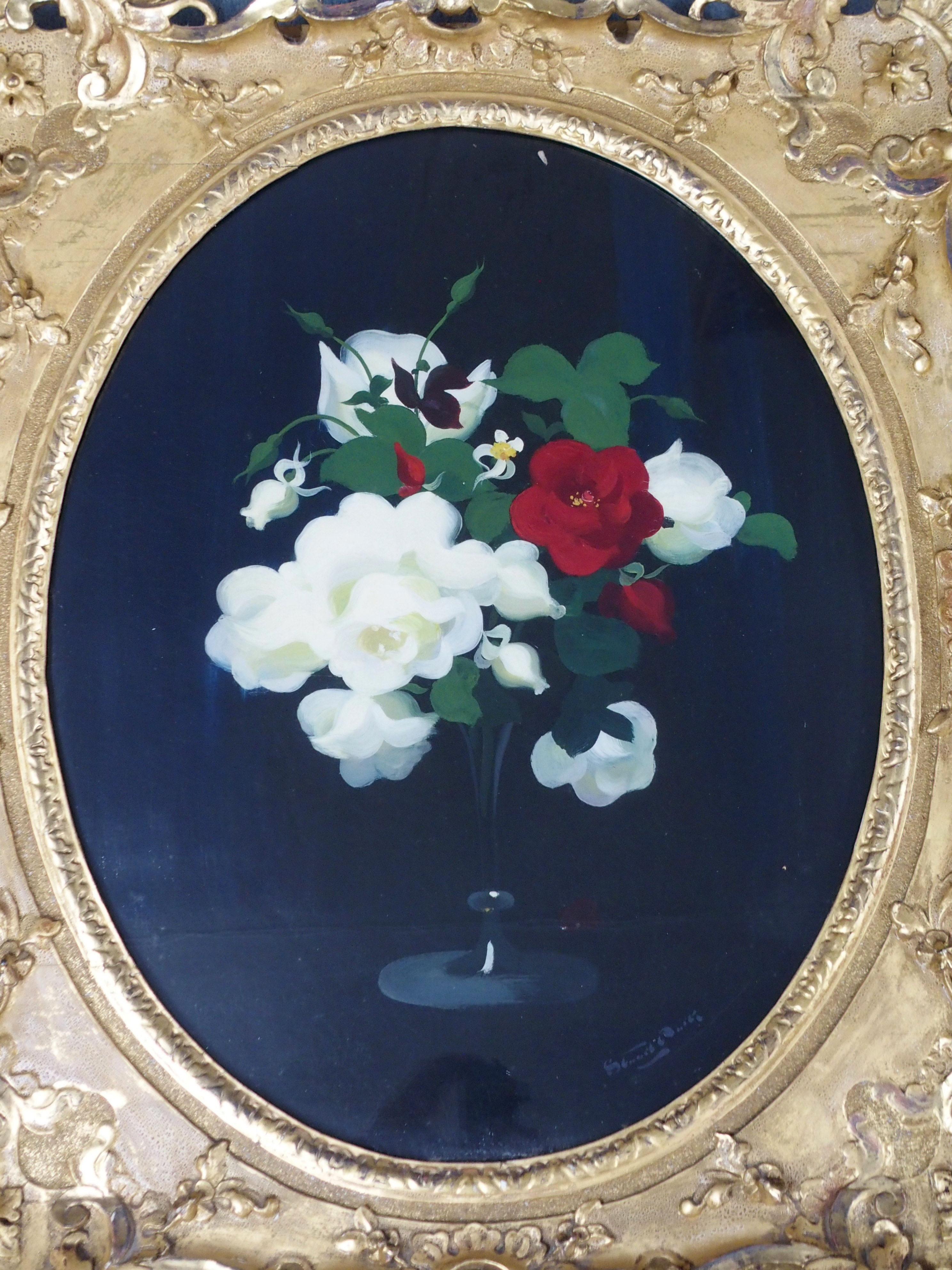 JAMES STUART PARK (SCOTTISH 1862-1933) MIXED ROSES oil on canvas, signed, 74 x 58cm Inscribed on