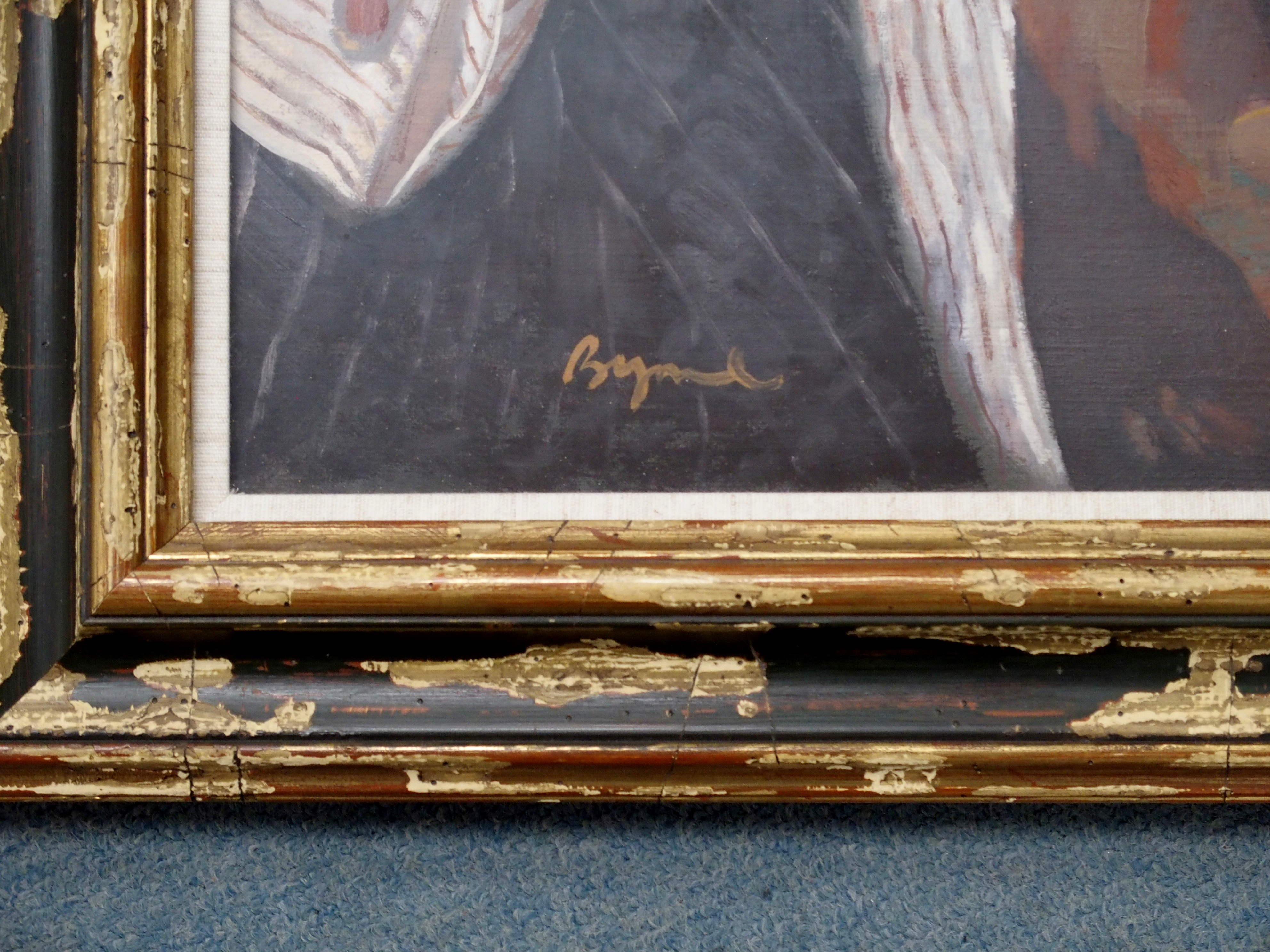 •JOHN BYRNE RSA (SCOTTISH B.1940) PORTRAIT OF WILLIAM HARDIE oil on canvas, signed and dated 27.9. - Image 4 of 5