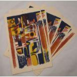•CHARLES PULSFORD ARSA (SCOTTISH 1912-1989) DEMETER (1954) Colour lithograph on paper, 43 x 29cm, 49