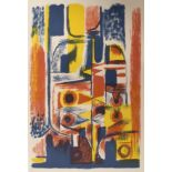 •CHARLES PULSFORD ARSA (SCOTTISH 1912-1989) ABSTRACT IN COLOURS Lithograph, 50 x 32cm and another