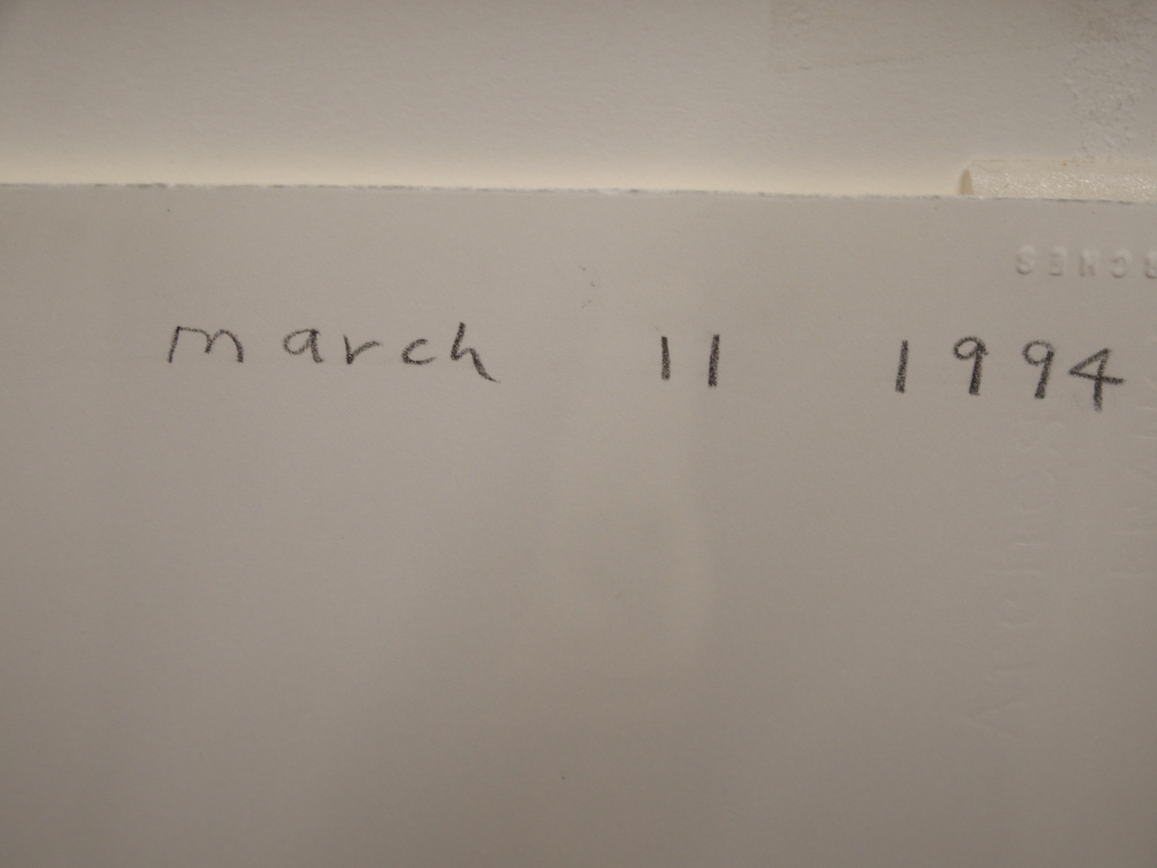 •DAVID HOCKNEY OM, CH, RA (BRITISH b. 1937) WILLIAM HARDIE MARCH 11, 1994 Graphite crayon, signed - Image 4 of 6