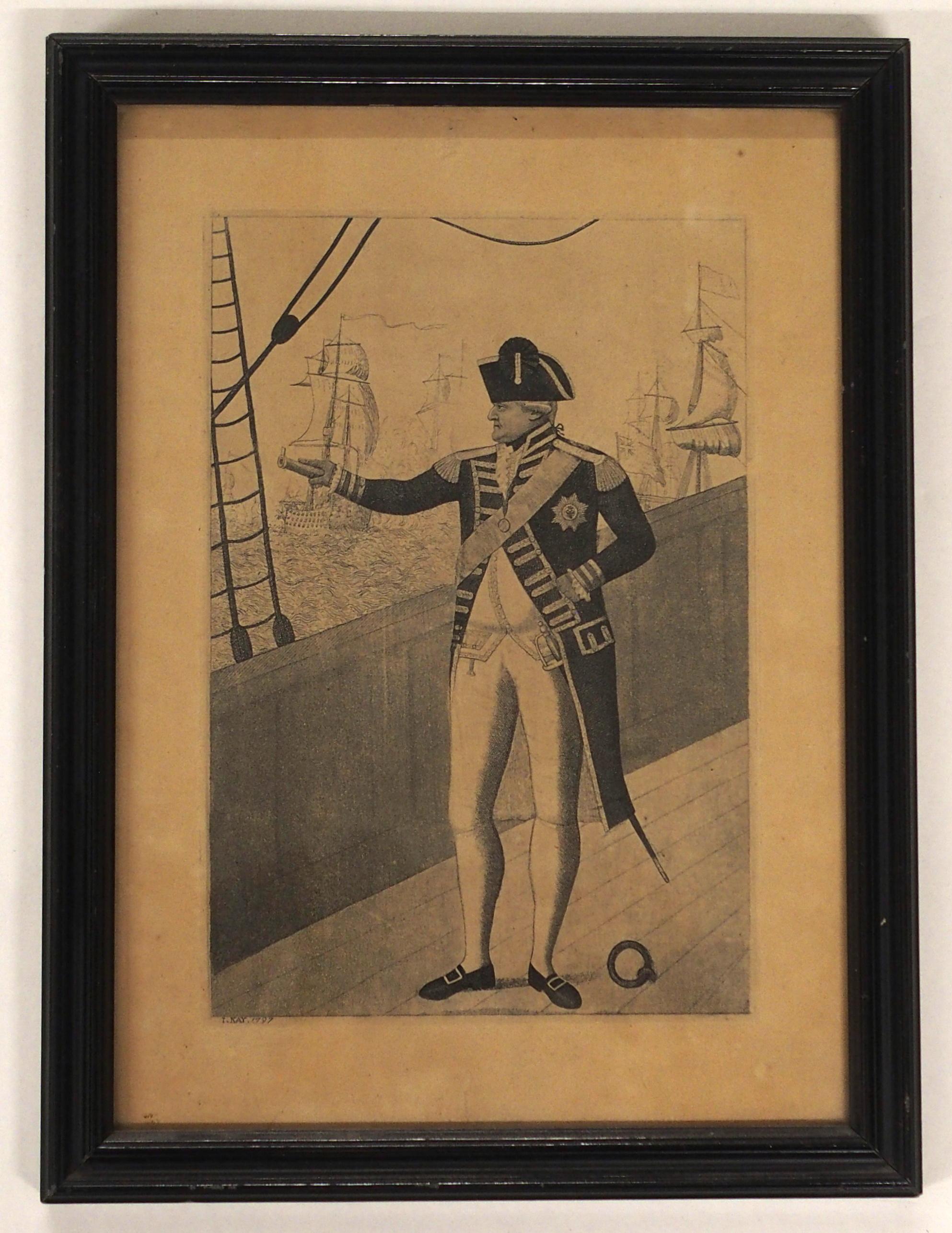 AFTER JOHN DUNCAN THE HEADLESS HORSEMAN engraving, 12 x 8cm, Admiral Viscount Duncan print, three - Image 8 of 12