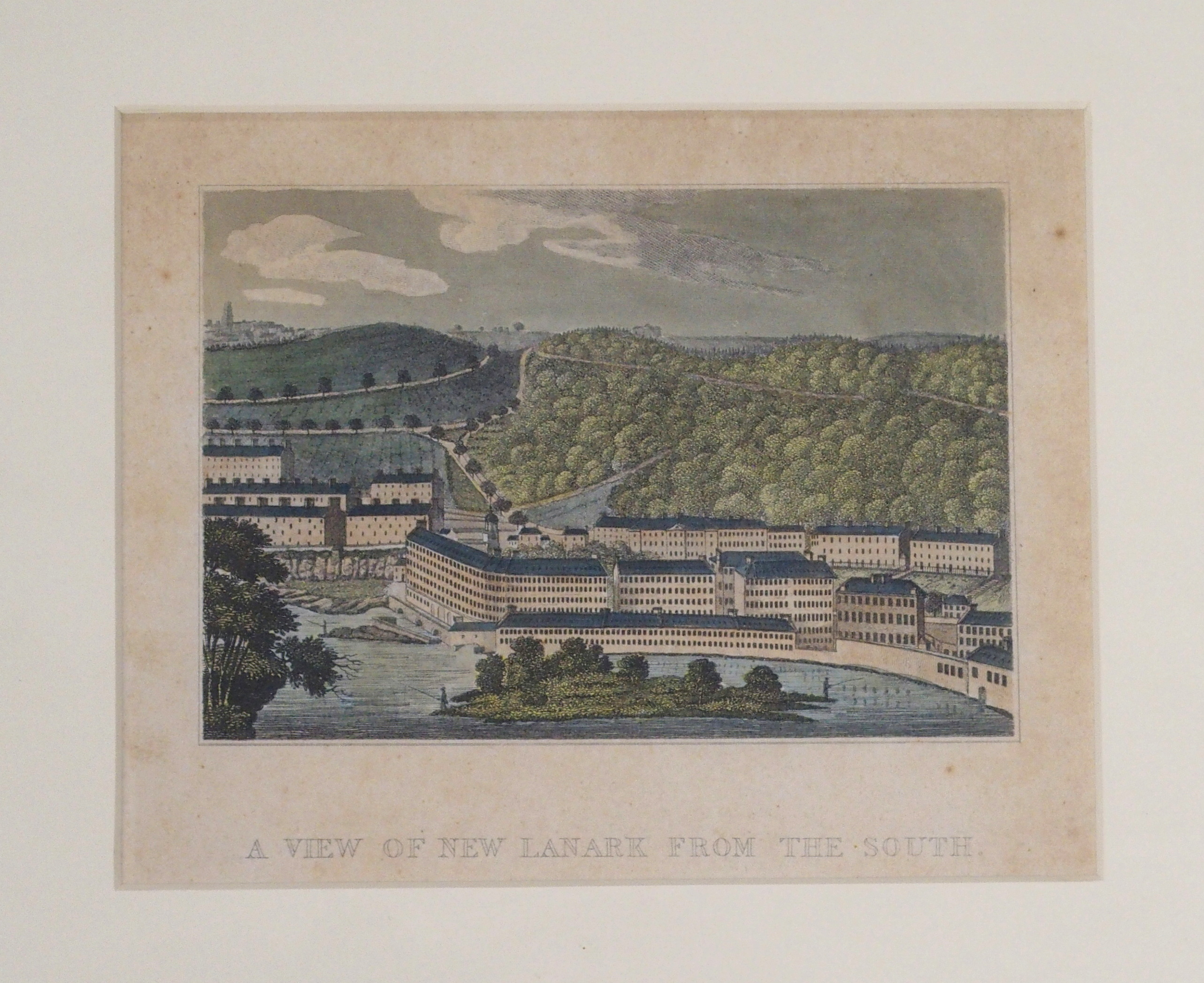 AFTER CLARK THE TOWN OF LANARK aquatint, 46 x 59cm, A View of New Lanark from the South, 14 x - Image 4 of 6