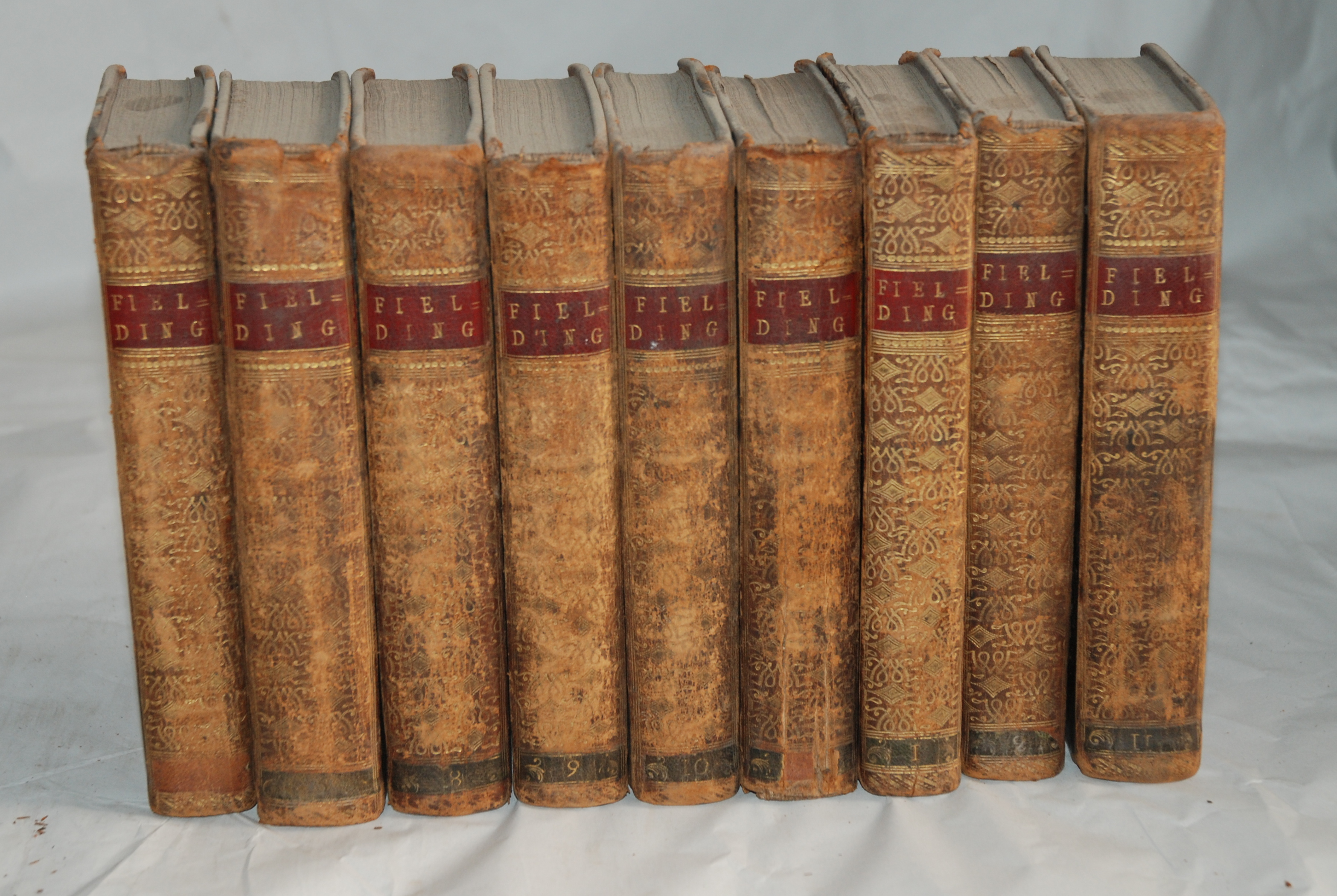 BOSWELLS LIFE OF JOHNSON 3 vols, London, 1824, The works of Henry Fielding, 9 vols, Laurence Sterna, - Image 2 of 3