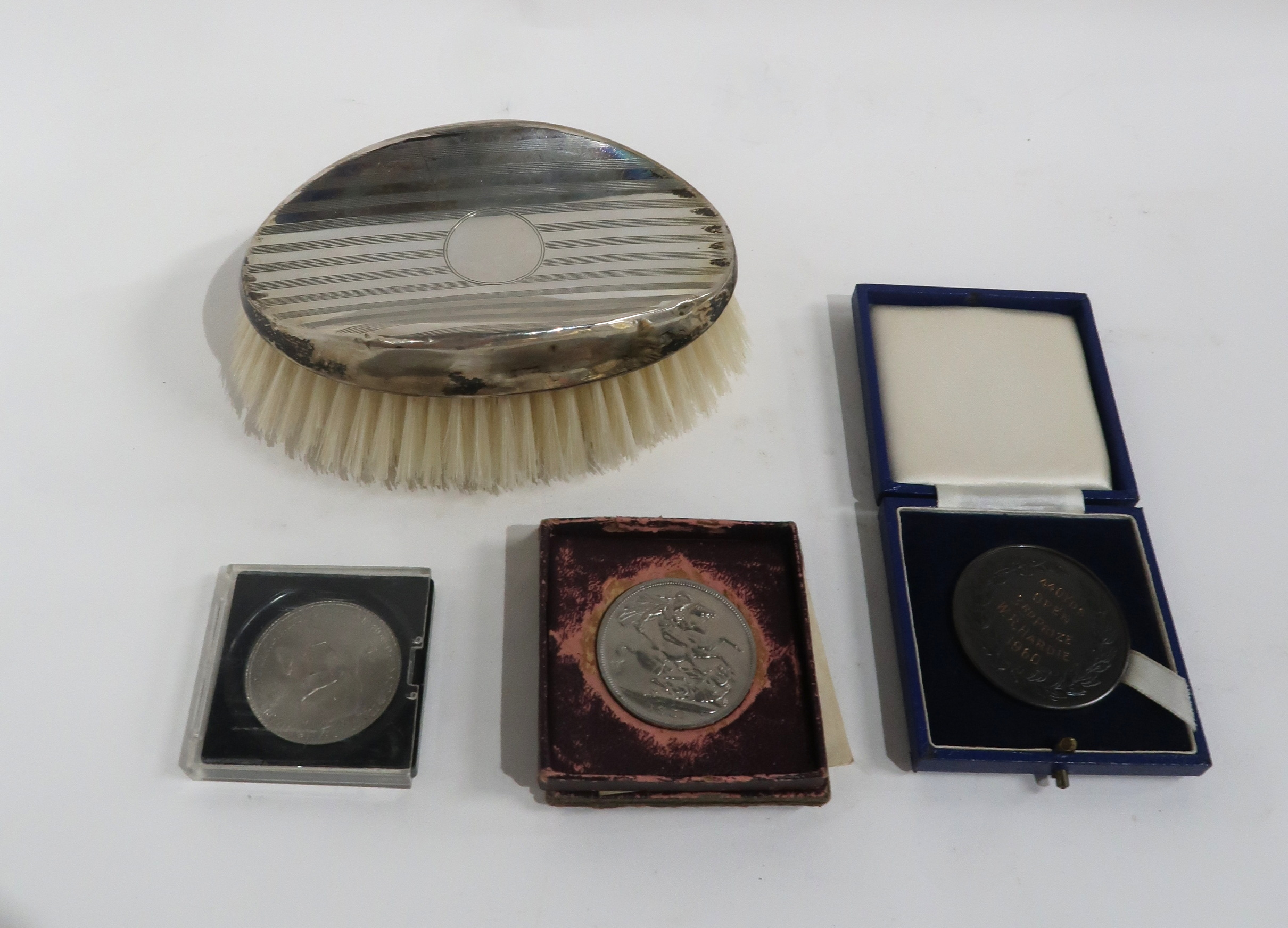 A GLASGOW ACADEMICAL CLUB BRONZE AWARD MEDAL 440 yds open 3rd prize, W.R. Hardie, 1950 with a silver