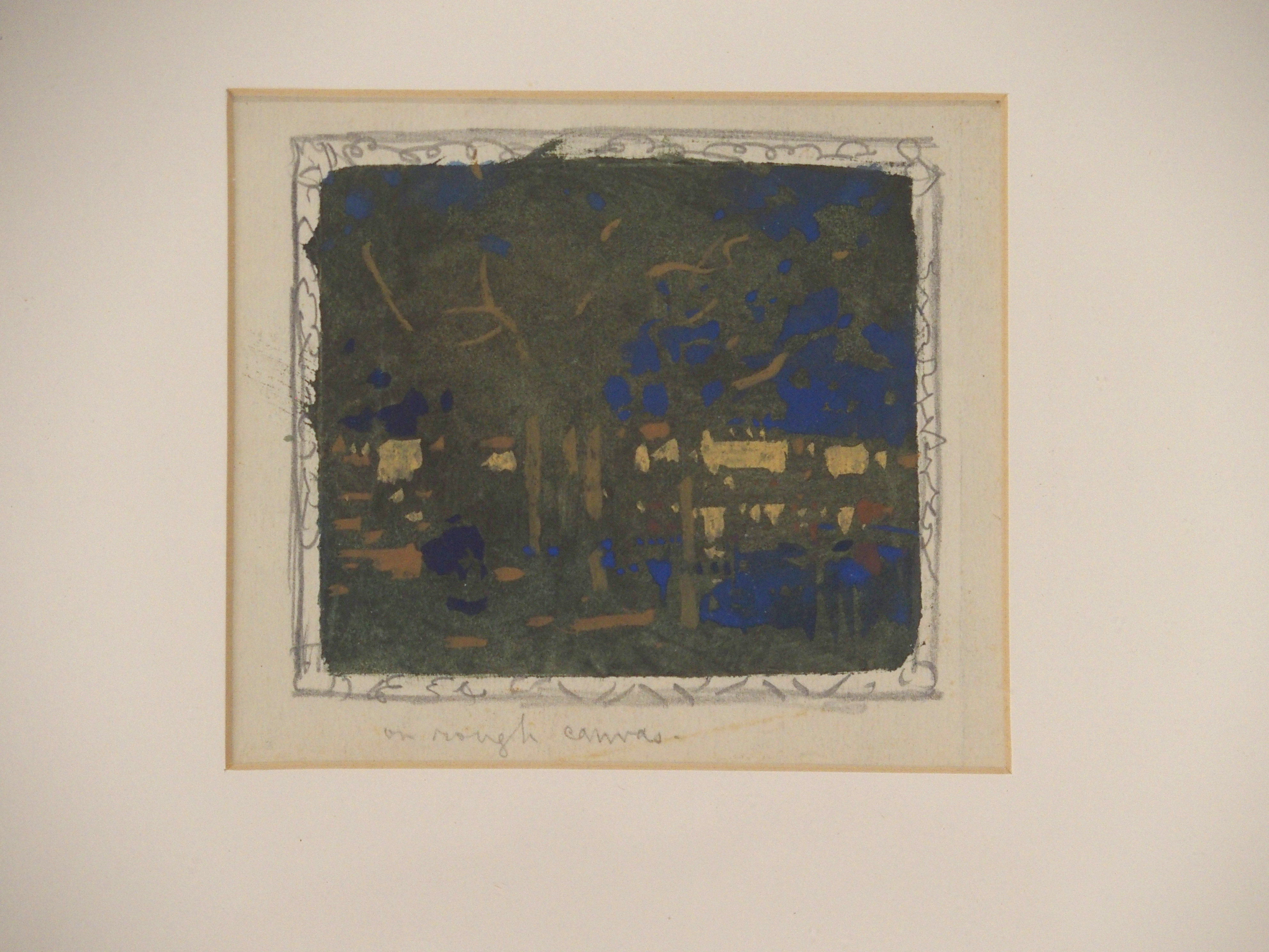 GEORGE DUTCH DAVIDSON (ENGLISH 1879-1901) TREES AND BUILDINGS gouache, 12 x 12cm Condition Report: