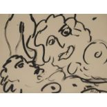 •DONALD BAIN (SCOTTISH 1904-1979) HEAD STUDY Ink drawing, signed with initials and dated 47, 23 x