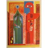 •CHARLES PULSFORD ARSA (SCOTTISH 1912-1989) ABSTRACT FIGURES lithograph, signed, 50 x 32cm and