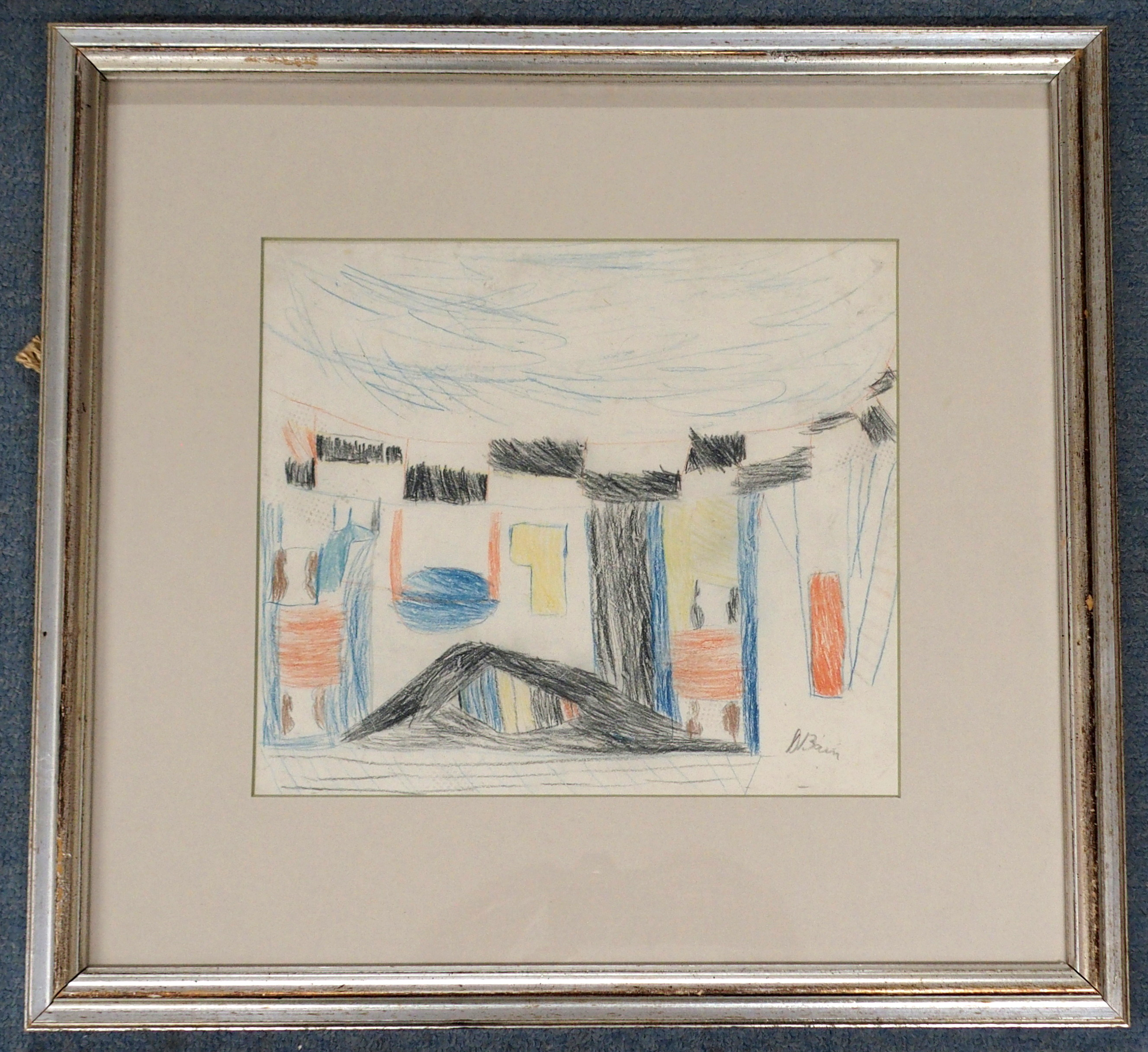 •DONALD BAIN (SCOTTISH 1904-1979) UNTITLED SKETCH crayon, signed, 25 x 29cm Condition Report: - Image 2 of 3