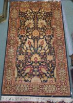 A blue ground Pakistan Fine Garous rug with floral design, 160cm x 93cm Condition Report: