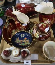 A lot comprising a selection of Carltonware Rouge Royale items, including a New Mikado pattern