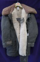 A WWII Swedish Military M1909 shearling lined jacket Condition Report: Not available for this lot