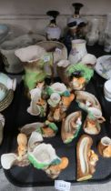 A lot comprising a collection of Hornsea & Withernsea trinket dishes, posey vases & pitchers in