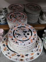An extensive collection of Ashworth Bros serving plates & meat trays decorated with floral