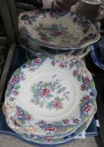 A lot comprising Copeland Late Spode Chinoiserie pattern no 8036 dinnerwares including plates,