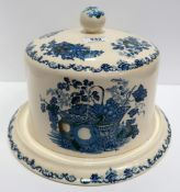 A Masons Fruitbasket pattern cheese stand and cover Condition Report: Available upon request