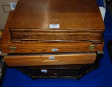 A lot comprising four cutlery boxes converted to display cases Condition Report: Available upon