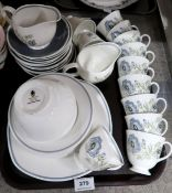 A Wedgwood Susie Cooper Glen Mist pattern part tea service Condition Report: Not available for