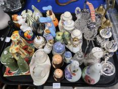 A collection of cruets including Susie Cooper, Old Tupton Ware, Radfords, Goebel and others