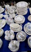A Royal Albert Brigadoon pattern dinner service, Shelley Crochet teawares etc Condition Report: