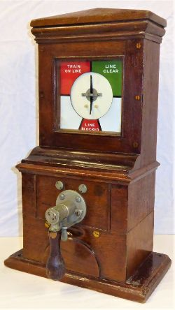 Midland Railway Pegging Block Instrument. Complete and in good original condition.