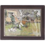 Framed & glazed advertising show card. PLAYERS COUNTRY LIFE SMOKING MIXTURE. Measures 22.5 in x 17.