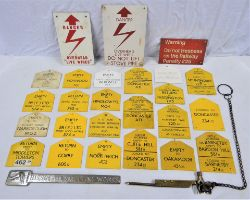 A collection of modern image railway items to include approximately 19 x plastic goods destination