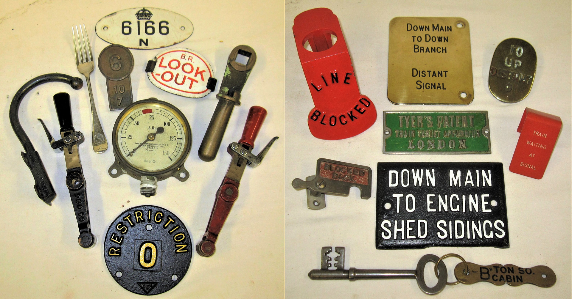 A lot containing various signalling items together with other items illustrated.