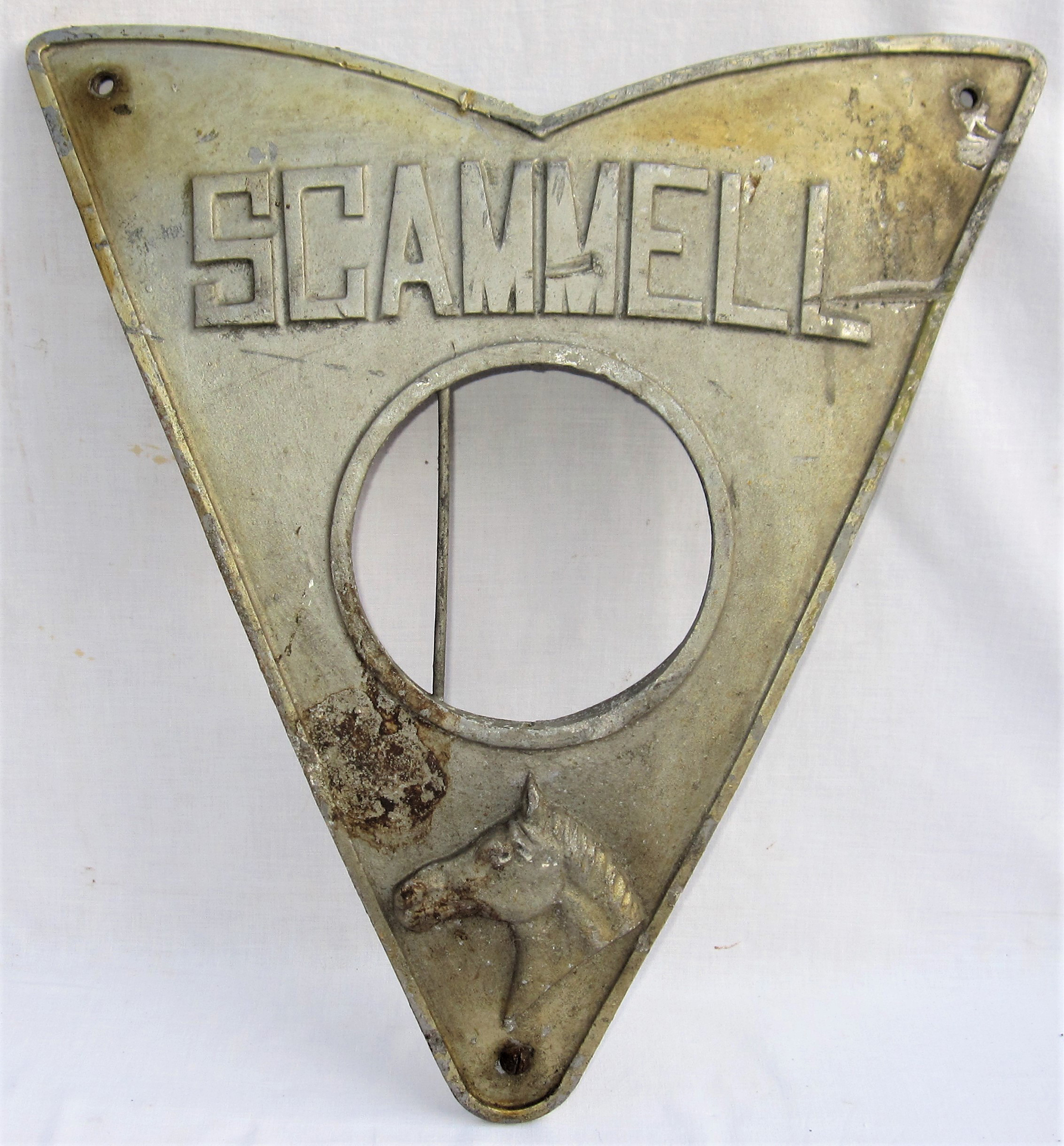 Scammell Front Radiator Plate as fitted to railway operated 3 wheel road vehicles. The centre hole