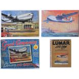 2 x Jigsaws of Aircraft interest. LUMAR with original box A Flying Boat together with THE GOOD