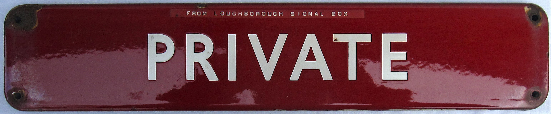BR(M) fully flanged door plate. PRIVATE. Ex Loughborough Signal Box. 18in x 3.5in.