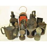 A collection of lamp spares and GPO oil cans.