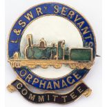 L&SWR Servants Orphanage Committee Badge. In very good condition and not often seen.