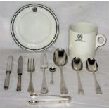 A Lot containing a collection of railway dining ware to include a GWR side plate. GWR Hotels Mug and
