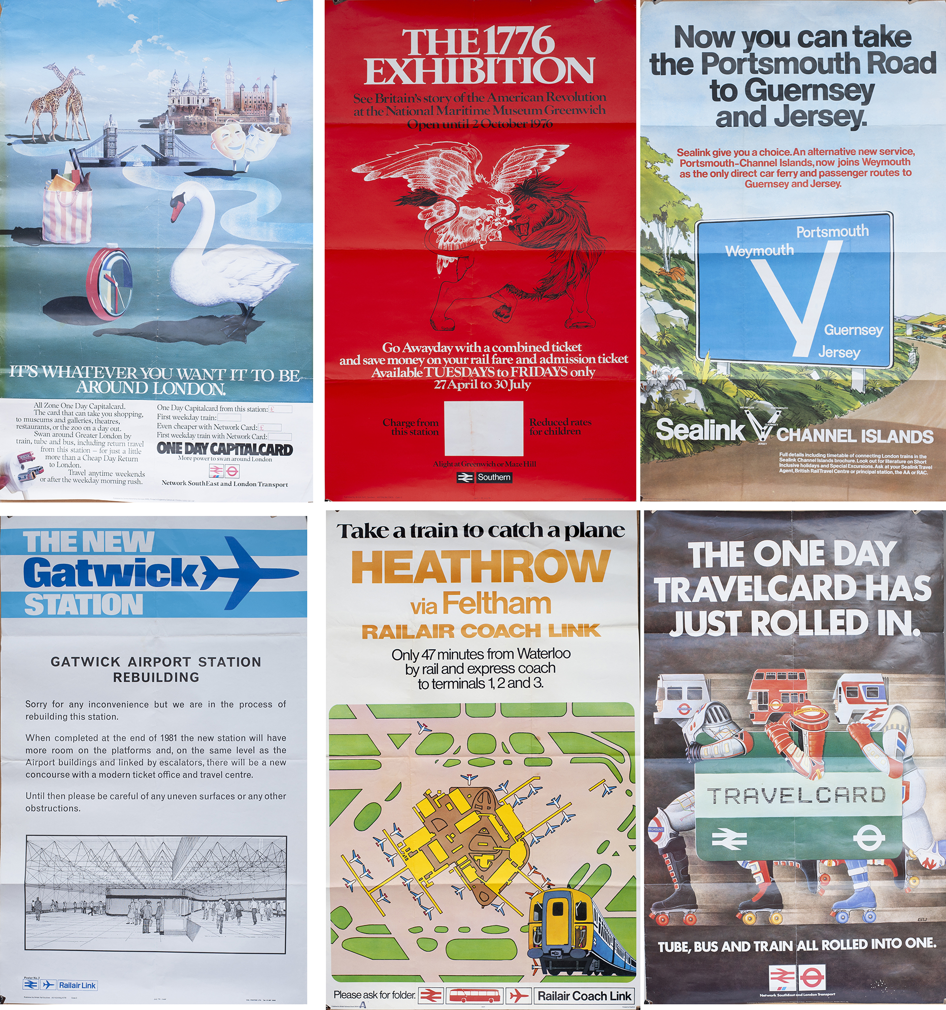 20 Posters to include Network South East, London Transport, British Railways, Channel Islands,