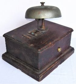 LMS single line Block Bell complete with thumb screws but with damaged stem.