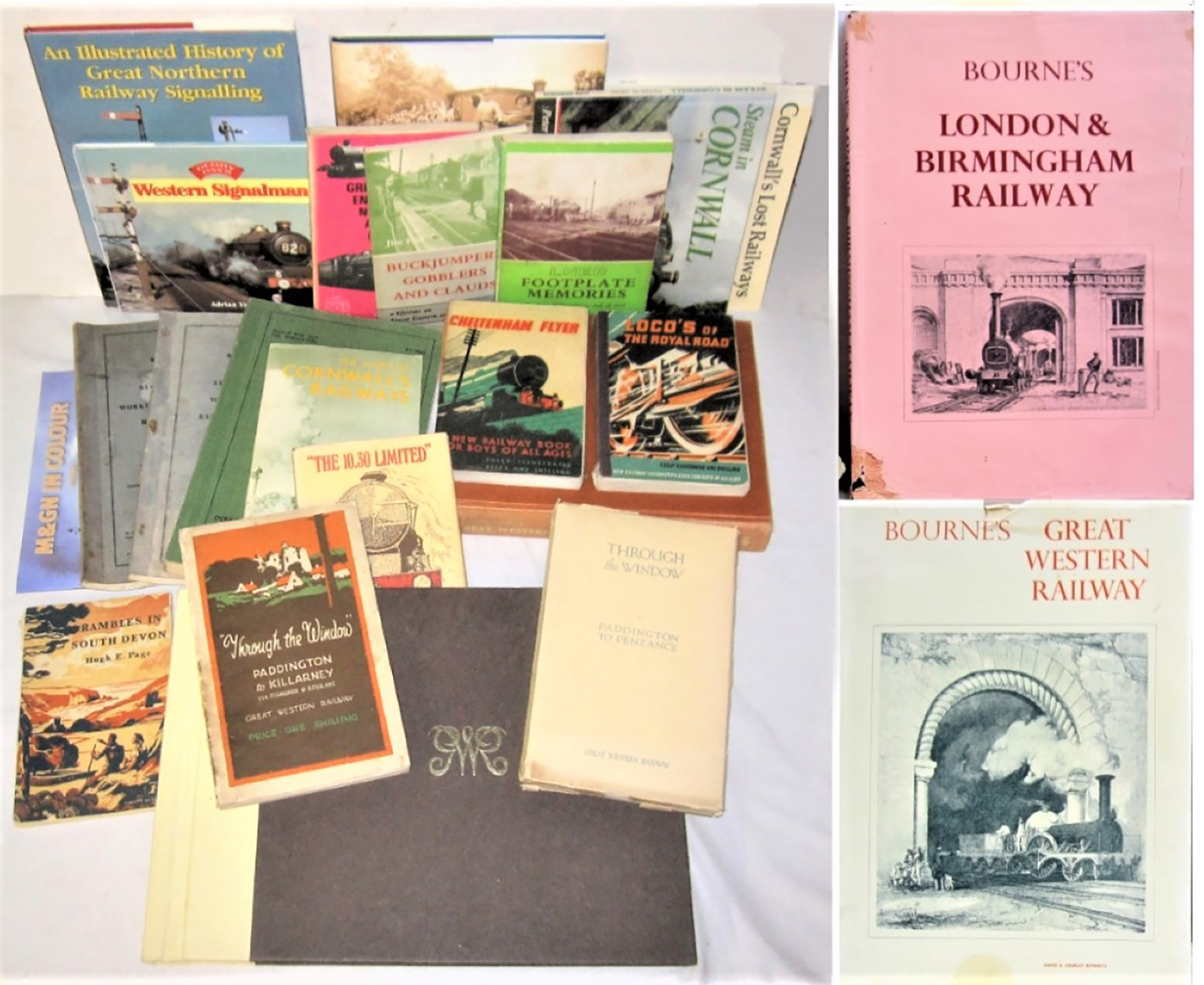 A collection of Railway Books to include BOURNES - GREAT WESTERN RAILWAY and BOURNES - LONDON and