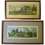 Framed & Glazed carriage prints. St OSYTH PRIORY in original frame and CAVENDISH Suffolk. Replaced