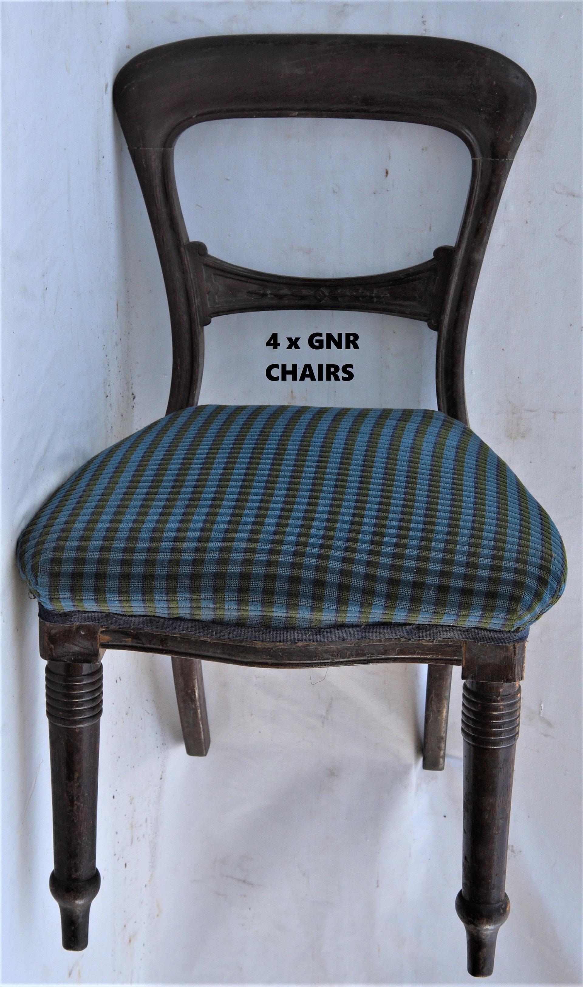 4 x GNR Mahogany waiting room chairs.