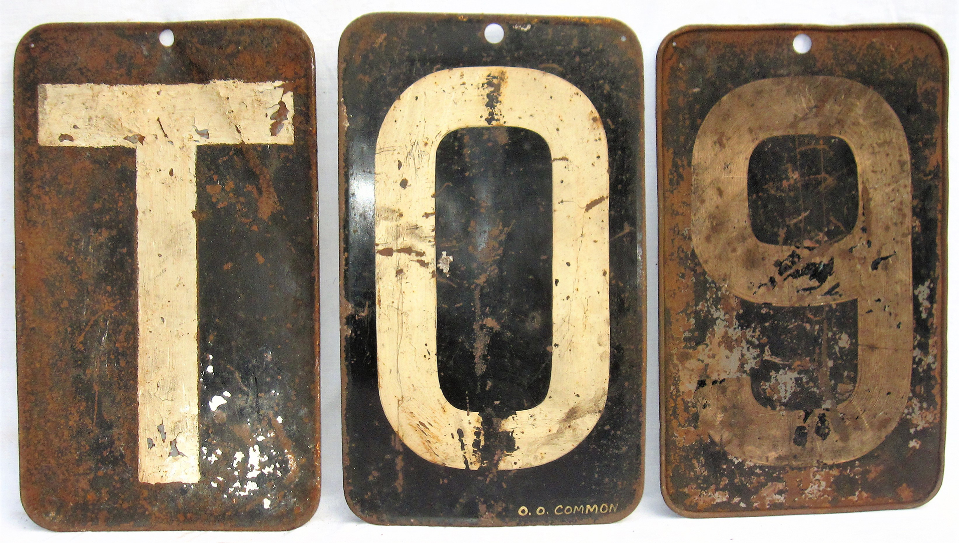 A collection of 3 x GWR/BRW Locomotive head codes. One painted O.O. Common. Rare items seldom seen