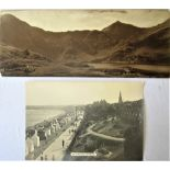 2 x GWR Carriage photo panels. WEYMOUTH The Esplanade together with SNOWDON from LYNN LYDAW. Both as