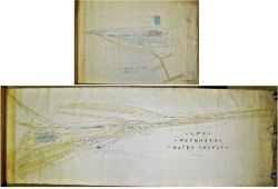 2 x GWR rolled hand coloured plans. WEYMOUTH LOCO YARD and STATION WATER SUPPLY.