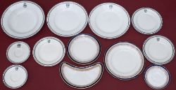A collection of Great Western Railway china to include Black Leaf patter, 3 x side plates, 2