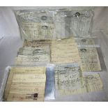 A Lot containing a collection of approximately 200 pieces of Caledonian paperwork to include
