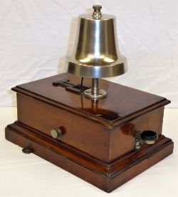 GWR pre grouping Block Bell fitted with CHURCH BELL. Complete with matching thumb screws and in